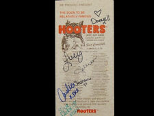 SIGNED staff HOOTERS MENU 101ST AIRBORNE  army halloween costume xtra uniform