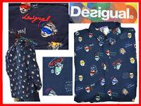 DESIGUAL Camicie Per Uomo XL Fino - 80 % DE01 N1G