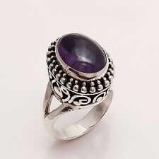 Silver Women Fine Vintage Jewelry Aa Natural Panorama Amethyst Ring 925 Sterling