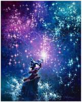 Disney Fine Art Limited Edition Canvas Sorcerer Mickey-Fantasia-Rodel Gonzalez