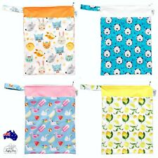 PUL Double Pockets Wet Dry Bag 30x40cm,MCN,Cloth Nappies Washable Mutifunction