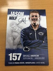 Jason Nolf Penn State PSU Wrestling NLWC Authentic Autograph Signed SGA Card