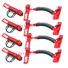 Red Roll Bar Grab Handles 4x4WD Off Road Accessories For Jeep Wrangler JK TJ CJ
