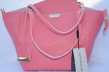 New Burberry Grain Check Small Canterbury Tote Leather Bag Handbag Shoulder
