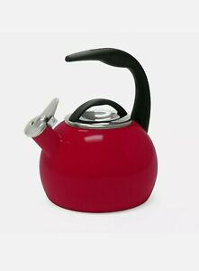 Chantal Enamel-On-Steel Anniversary Teakettle (2-Quart, Chili Red) - NEW