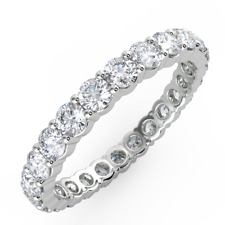 Bargain - 1.00Ct Round Diamond Full Eternity Ring, Hallmarked Platinum
