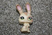 Littlest Pet Shop Magic Motion Bunny #488 Cream Tan Rabbit Green LPS Toy RARE