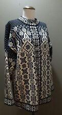 (L) Dale of Norway Women's Black & Winter White Snowflake Wool Cardigan Sweater