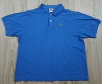Lacoste Men's Polo Shirt Short Sleeve Size 8 Blue Pull Over Golf Casual Dress