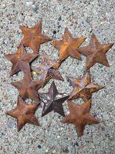 TEN 10 ~MINI ~2.25 inch Rusty BARN STARS Primitive Country Rustic Craft Supply