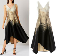 Coast Erla Jacquard Maxi Midi Dress in Gold RRP £195 Sizes 6 to 18