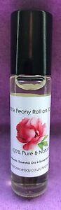 Pink Peony Type Perfume Oil - 10ml roller ball - handbag size