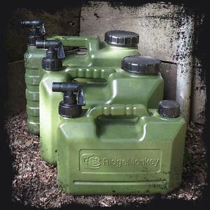 Ridgemonkey Heavy Duty Water Carrier Jerry Can Bottle + Tap NEW *All Sizes*