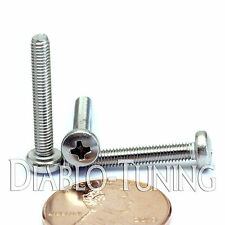 M3 x 20mm - Qty 10 - Stainless Steel Phillips Pan Head Machine Screws DIN 7985 A