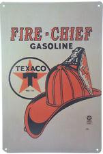 "TEXACO FIRE CHIEF Motor Oil Gas Retro Garage Metal Tin Sign 8x12"" 20x30cm NEW"