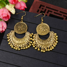 Women Boho Vintage Indian Gypsy Tassel Drop Dangle Earrings Wedding Jewelry