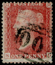 SG40, 1d rose-red PLATE 63, LC14, FINE USED. Cat £50. SG
