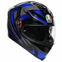 AGV K5-S Hurricane 2.0 Moto Motorcycle Bike Helmet Black / Blue