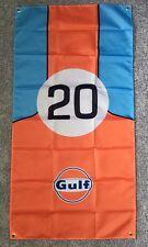Gulf Oil Flag - porsche 917 steve mcqueen ruf 356 ford gt40 GT2 911 dtm opel m3
