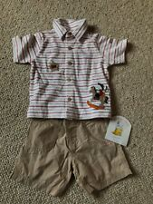Mothercare Humphreys Corner Shorts And T-shirt Set - Sz 6 - 9 Months BNWT
