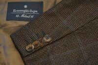 Ermenegildo Zegna Green Blue Windowpane Woven Wool Sport Coat Jacket Sz 42R