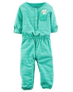 Carter's   Baby Girls' Embroidered Jumpsuit   Orig.$18.00   NB, 9M