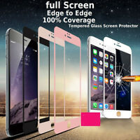 3D Full Coverage Tempered Glass Screen Protector Cover For iPhone X 8 7 6S PLUS
