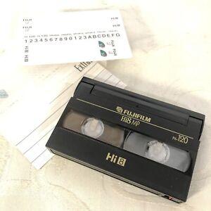 Fuji P6-120 Hi8 MP Video Cassette Tape Extraslim New Open