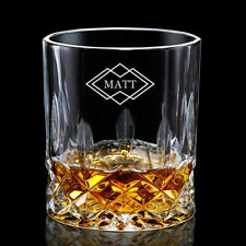 Personalised Engraved Whiskey Glass Tumbler Gift for Men Best Man Father Brother