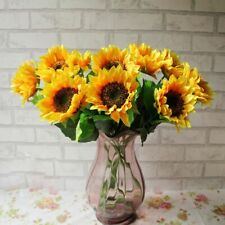 Artificial Flower Home Wedding Living Room Party Table Decor Silk Sunflowers~