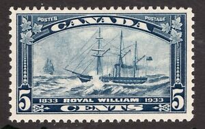 Sc# 204 - Canada - 1933 - 5 cent - Steamship - MNH -  superfleas - cv$32