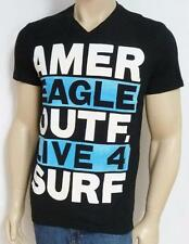 American Eagle Outfitters Live 4 Surf Mens Black V-Neck T-Shirt New NWT