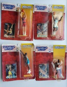 Kenner 1994 Starting Lineup Basketball Action Figure Lot of 4 Figures