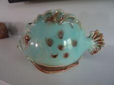 Vintage Aqua Blue FISH Planter Made in Japan Pottery Ceramic