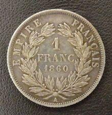 FRANCE NAPOLEON III TETE NUE 1 FRANC 1860 A PARIS