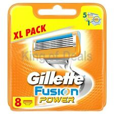 8 Gillette Fusion Power Rasierklingen mit Gesichtsmaske Cucumber