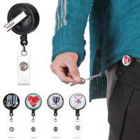 Retractable Anti-Lost Clip Badge Holder Nurse ID Name Card Key Ring Lanyards