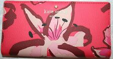 KATE SPADE STACY FAIRMOUNT SQUARE SURPRISE CORAL LEATHER PWRU5010WALLET