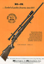 1971 Print Ad of Harrington & Richardson H&R Ultra Medalist Model 370 Rifle