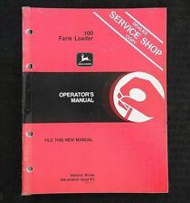 John Deere 1250 Tractor 100 Farm Loader Operators Manual
