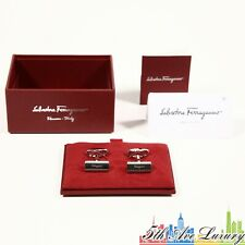 $270 NEW 100% AUTHENTIC MEN'S SALVATORE FERRAGAMO PALLADIUM CUFFLINKS CUFF LINKS