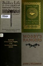 84 RARE OLD BOOKS ON VIRGINIA IN THE CIVIL WAR HISTORY GENEALOGY RECORDS ON DVD