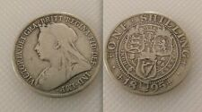 Collectable Silver 1895 Queen Victoria - One Shilling coin, Old Veiled , Lot 2