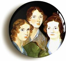 BRONTE SISTERS PORTRAIT BADGE BUTTON PIN (Size is 1inch/25mm diameter) CHARLOTTE