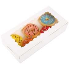 Moretoes 30pcs White Bakery Boxes 12x55x25 Inches Cookie Boxes With Window For