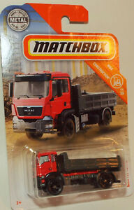 Matchbox Die Cast Man TGS18.440  Dump Truck Red Cab