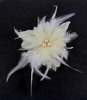 Ivory cream & white fascinator comb for Ascot , Races, Weddings, Ladies Day