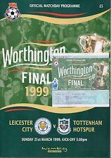 FINAL Leicester City v Tottenham Hotspur Worthington Cup 1999 Programme & Ticket