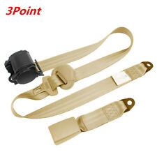 Beige 3Point Car Seat Safety Belt Extender Extension Buckle Shoulder Seatbelt