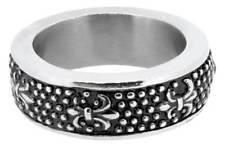 Mens Urban Rock Stainless Steel Ring - NEW 8mm width - Steam punk -